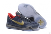 Nike Kobe 10 Low Grouper Dark Grey Golden Red