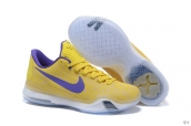 Nike Kobe 10 Low Grouper Yellow Purple White