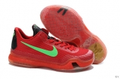 Nike Kobe 10 Low Red Green Black