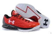 Ua Curry One Low Red Black White