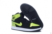 Air Jordan 1 Women Black Green Purple