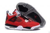 AAA Air Jordan 4 Canvas Red Black White