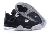 AAA Air Jordan 4 Canvas Black Grey White