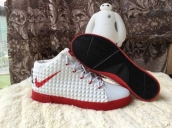 Nike Lebron 12 Casual Shoes Mid White Red
