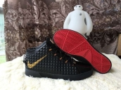 Nike Lebron 12 Casual Shoes Mid Black Golden