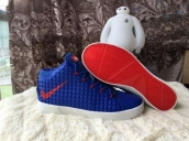 Nike Lebron 12 Casual Shoes Mid Blue Red White