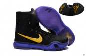 Nike Kobe X High Black Purple Yellow