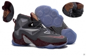 Nike Lebron 13 AAA Dark Grey Wine Red