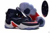 Nike Lebron 13 AAA Navy Blue Red White