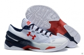 Ua Curry II Low White Navy Blue Red