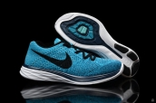 Nike Flyknit Lunar3 Peacock Blue Black White