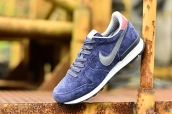 Nike Internationalist Leather Low Navy Blue Grey White