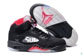 Air Jordan 5 Kid Supreme Black Red White