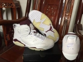 AAA Air Jordan 6 Logo NIKE White Dark Red 150