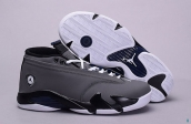 Air Jordan 14 Low AAA Grey Black White