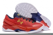 Ua Curry II Low Red Blue White Golden