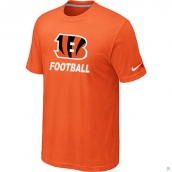 Men's Cincinnati Bengals Nike Cardinal Facility TShirt Orange