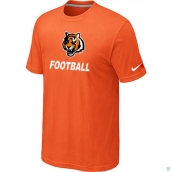 Men's Cincinnati Bengals Nike Cardinal Facility TShirt Orange 2