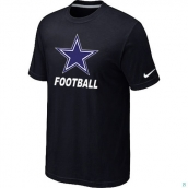 Men's Dallas Cowboys Nike Cardinal Facility TShirt Black