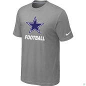 Men's Dallas Cowboys Nike Cardinal Facility TShirt L-Grey