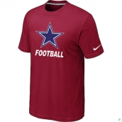Men's Dallas Cowboys Nike Cardinal Facility TShirt Red