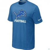 Men's Detroit Lions Nike Cardinal Facility TShirt light Blue