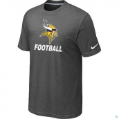 Men's Minnesota Vikings Nike Cardinal Facility TShirt D-Grey