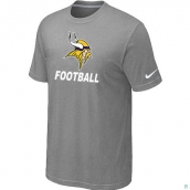 Men's Minnesota Vikings Nike Cardinal Facility TShirt L-Grey