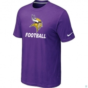 Men's Minnesota Vikings Nike Cardinal Facility TShirt Purple