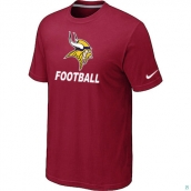 Men's Minnesota Vikings Nike Cardinal Facility TShirt Red