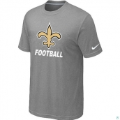 Men's New Orleans Saints Nike Cardinal Facility TShirt L-Grey