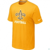 Men's New Orleans Saints Nike Cardinal Facility TShirt Yellow