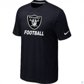 Men's Oakland Raiders Nike Cardinal Facility TShirt Black