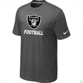 Men's Oakland Raiders Nike Cardinal Facility TShirt D-Grey