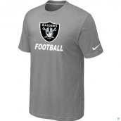 Men's Oakland Raiders Nike Cardinal Facility TShirt L-Grey