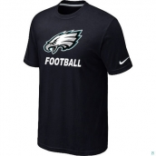 Men's Philadelphia Eagles Nike Cardinal Facility TShirt Black