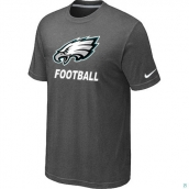 Men's Philadelphia Eagles Nike Cardinal Facility TShirt D-Grey