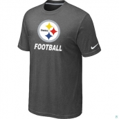Men's Pittsburgh Steelers Nike Cardinal Facility TShirt D-Grey