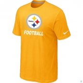Men's Pittsburgh Steelers Nike Cardinal Facility TShirt Yellow