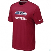 Men's Seattle Seahawks Nike Cardinal Facility TShirt Red