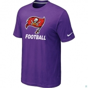 Men's Tampa Bay Buccaneers Nike Cardinal Facility TShirt Purple