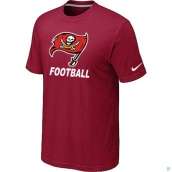 Men's Tampa Bay Buccaneers Nike Cardinal Facility TShirt Red