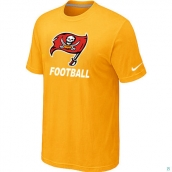 Men's Tampa Bay Buccaneers Nike Cardinal Facility TShirt Yellow