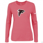 Nike Atlanta Falcons Women's Of The City Long Sleeve TriBlend TShirt Pink