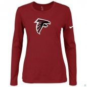 Nike Atlanta Falcons Women's Of The City Long Sleeve TriBlend TShirt Red