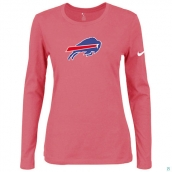 Nike Buffalo Bills Women's Of The City Long Sleeve TriBlend TShirt Pink