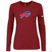 Nike Buffalo Bills Women's Of The City Long Sleeve TriBlend TShirt Red