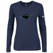 Nike Carolina Panthers Women's Of The City Long Sleeve TriBlend TShirt  D-Blue