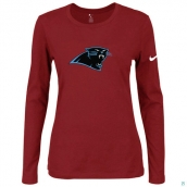 Nike Carolina Panthers Women's Of The City Long Sleeve TriBlend TShirt Red