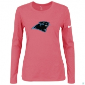 Nike Carolina Panthers Women's Of The City Long Sleeve TriBlend TShirt Pink